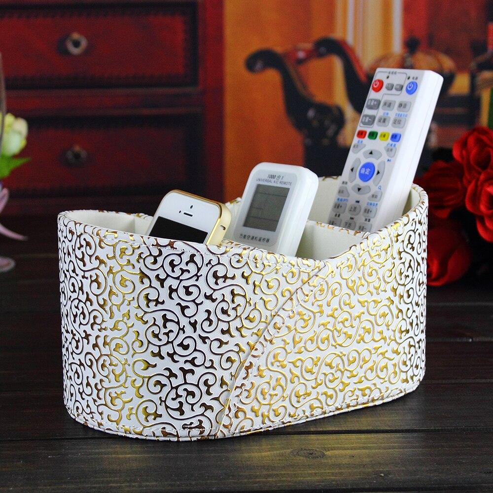 PITEBO 3 fente bureau en cuir télécommande vendeuses à domicile boîte de rangement présentation d'affichage organisateur de cas