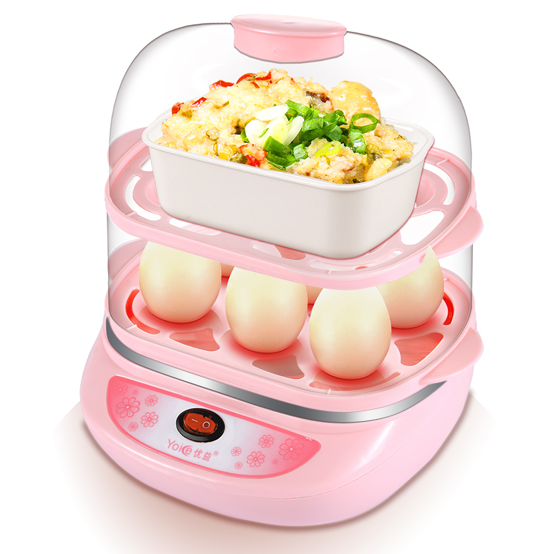 Yoice 2 Layers Multi Egg Boiler Big Capacity for 12pcs Eggs Mini Steamer Y-ZDQ3 Egg Custard Breakfast MachineYoice 2 Layers Multi Egg Boiler Big Capacity for 12pcs Eggs Mini Steamer Y-ZDQ3 Egg Custard Breakfast Machine