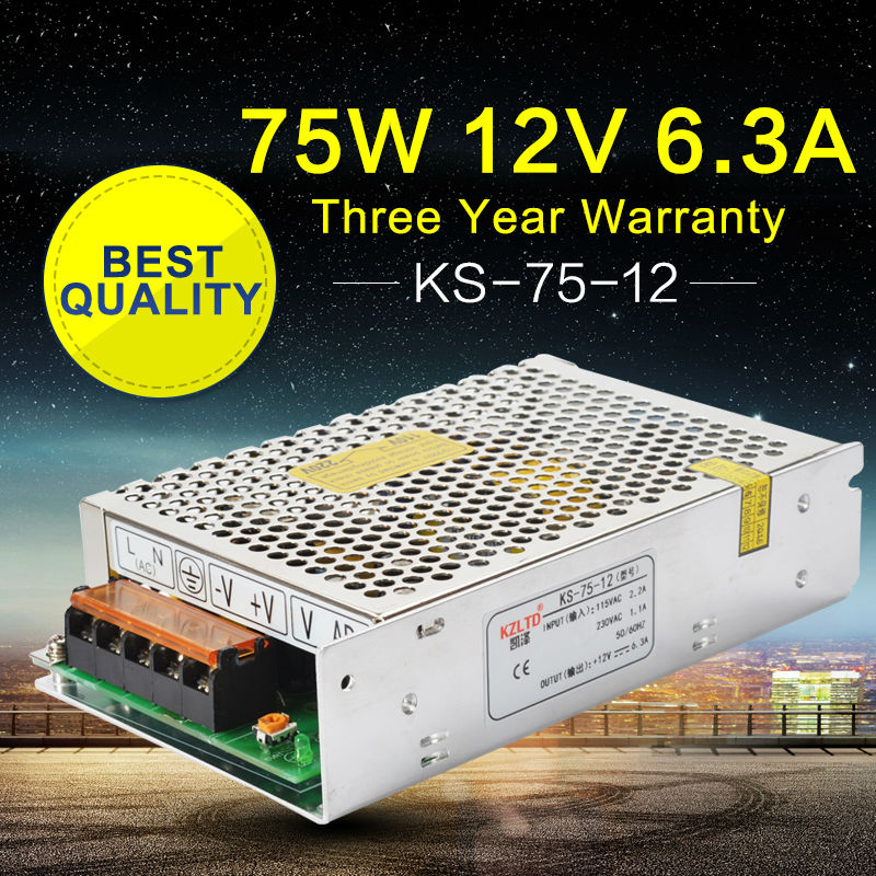 AC-DC Switching Power Supply 12V 75W 110V 220V Input LED Converter 12V Alimentation for Led Strip billboard LED Module light 1200w 48v adjustable 220v input single output switching power supply for led strip light ac to dc