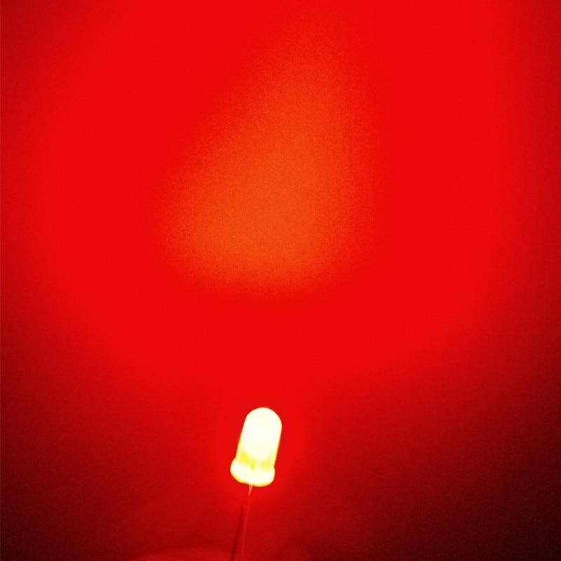 5mm Rgb Difuso Arco Iris lento intermitente flash Roja Verde Azul LED Leds 100 un.