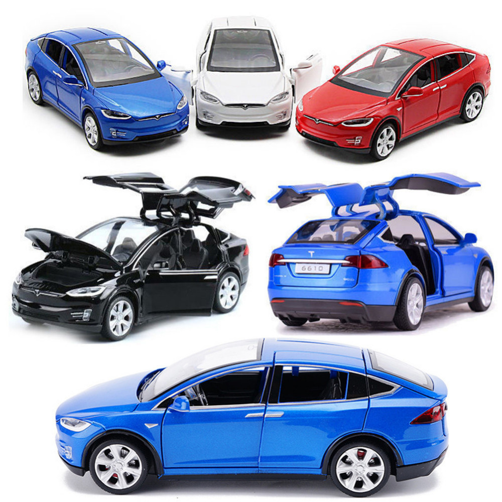 High Simulation 1:32 TSL Model X90 Metal Model Acousto-optic Pull-back Toy Car 4 Open Door Flashing Music Kids Toy Gift