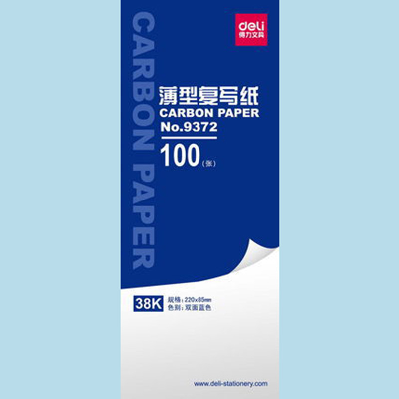 1 Bag 100sheets Blue Color Carbon Paper Include 3 Red Ones 38k 85x220mm Good Quality For Accounting Deli 9372