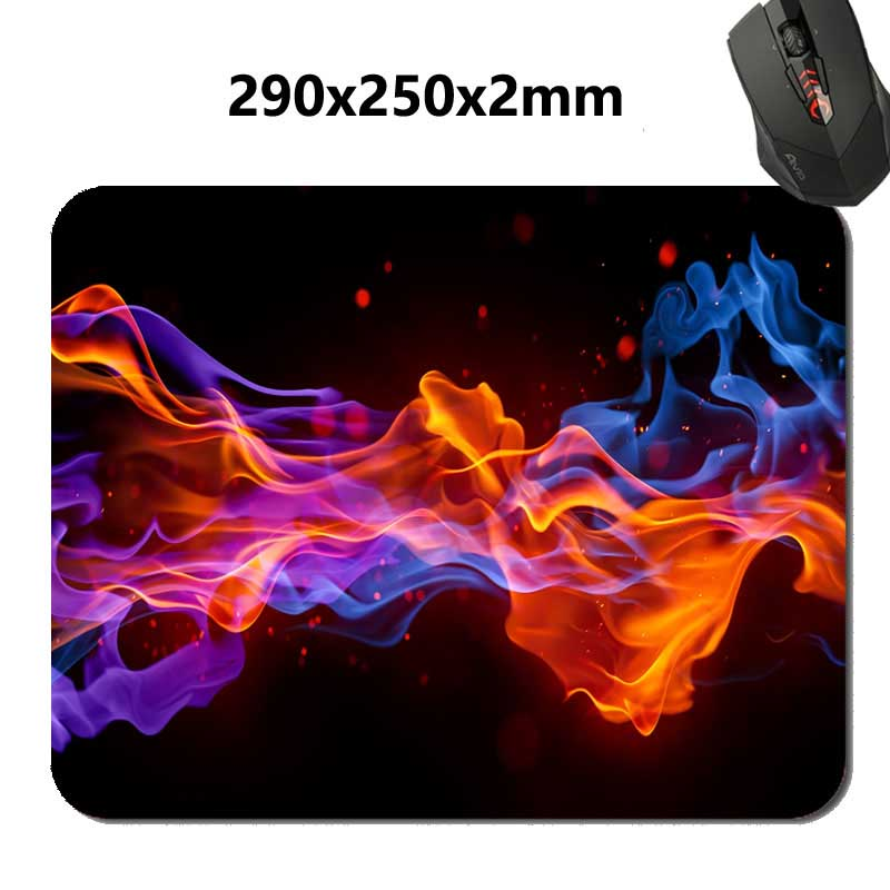 290*250*2mm or 220*180*2mm DIY Professional Quick printing Retro Custom art of flame  Rubber soft Gaming Mouse Pad Non-Skid  Pad
