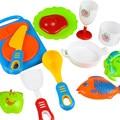 17pcs Plastic Kids Children Kitchen Utensils Food Cooking Pretend Play Set Toy Free Shipping