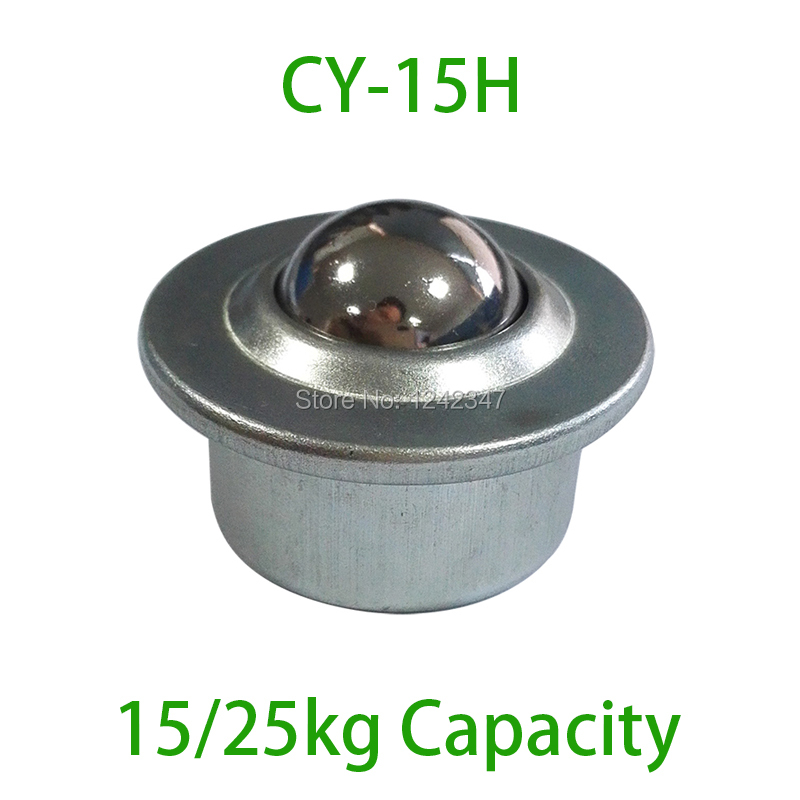 10pcs Hot Selling CY-15H Stud Mount Ball Transfer Unit 25kgs Load Capacity CY15H Pressed Stud Base Transfer Ball Bearing Caster