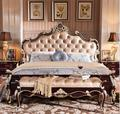 New  european-style solid wood bed double bed is 1.8 meters bedroom furniture row frame bed