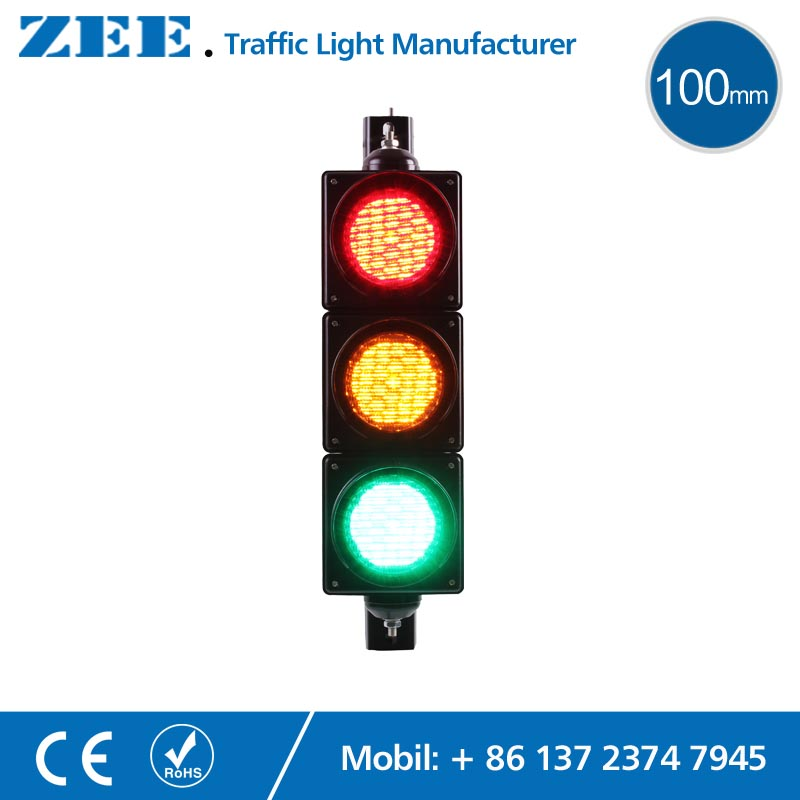 100mm LED Traffic Light Lamp Red Yellow Green Traffic Signal Light Parking Lot Signal Children Kindergarten Education led electronic traffic lane control signal traffic lane indicator light with red cross