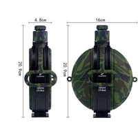 Collapsible Military Water Bottle Newly Designed Silicone Water Kettle Canteen with Compass Bottle Cap for Hiking Camping Outdoo