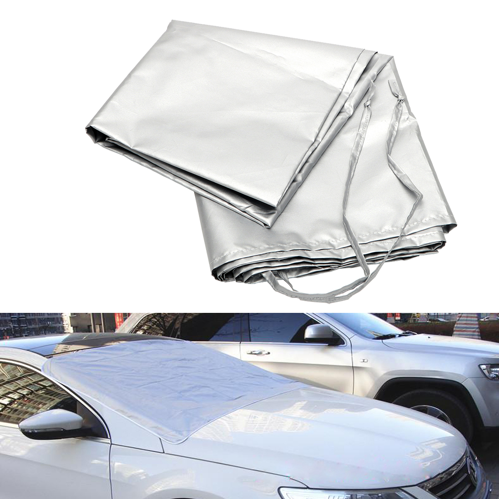 Magnetic Heat Sun Shade Car Covers Half Size Winter Anti Snow Frost Ice Shield Dust Protector Car Styling Auto Windscreen Cover|windscreen cover|car cover half|car covers - title=