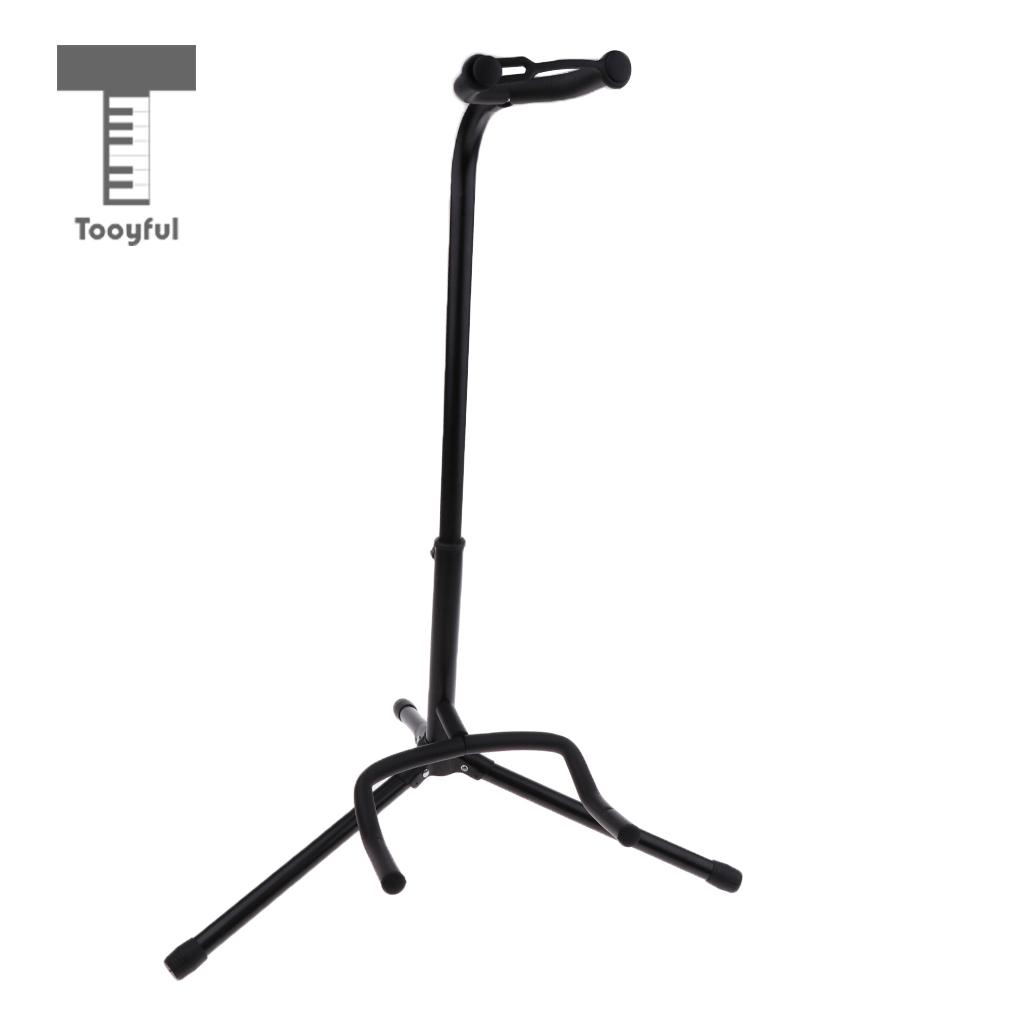 Tooyful Foldable A Frame Guitar Holder Floor Stand Neck Lock Support for Acoustic/Electric Guitar Bass DIY Storage Parts 2 pieces h7 cree chip led 40w replacement 7200lm car drl fog auto led headlight conversion driving bulb car light source