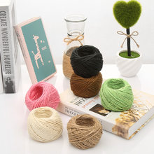 30M Natural Burlap Hessian Jute Twine Cord Hemp Rope String Gift Packing Strings Christmas Event & Party Supplies(China)