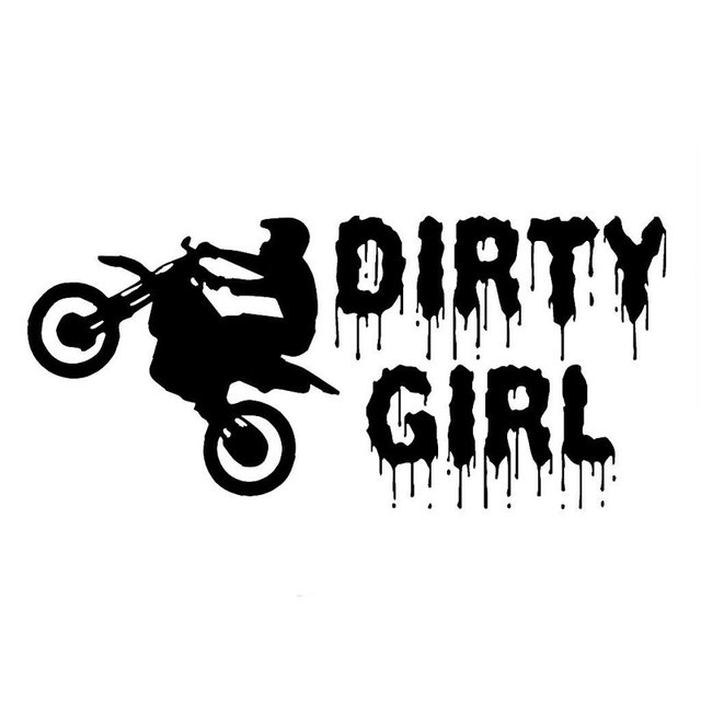 CMCM Dirty Girl Dirt Bike Decal Rider Car Stickers And - Bike graphics stickers images