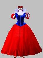 Косплей Синий и Красный Снег Белый Принцесса Взрослый Костюм Платье Партии Косплей Платье