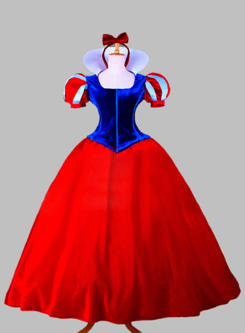 Cosplay Blue and Red Snow White Princess Adult Costume Dress Party Dress Cosplay Dress