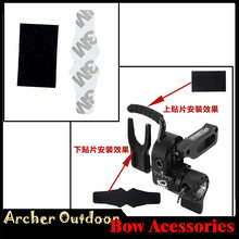 2sets Archery Drop Away Arrow Rest Pad Black Pelt Anti-slip Stickers for QZD HDX Compound Bow Outdoor Hunting Shooting(China)