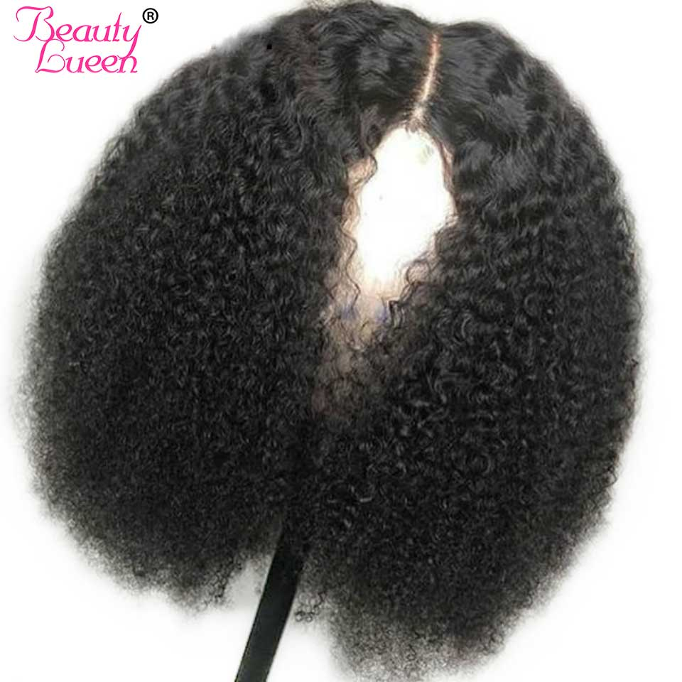 250 Density Short Mongolian Afro Kinky Curly Human Hair Wig Lace Front Human Hair Wigs For