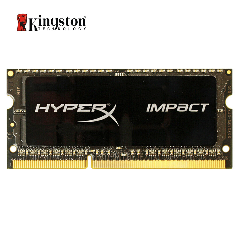Kingston HyperX Impact RAM <font><b>DDR3</b></font> DDR3L <font><b>4GB</b></font> 8GB 1600MHz CL9 <font><b>SODIMM</b></font> 1.35V Laptop Memory HX316LS9IB/8 Black image