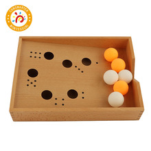 Baby Toy Montessori Wooden Blow Box Table Tennis  Children House Toddlers Early Educational Preschool