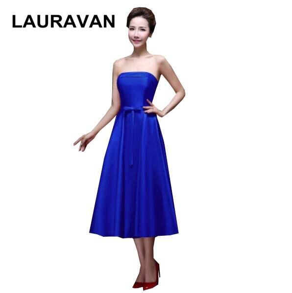 Robe d'été coréenne à lacets dos robes de formales robes de demoiselle d'honneur courtes mode 2019 nouveauté livraison gratuite