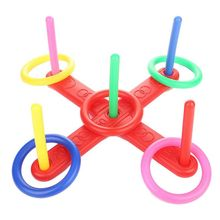 Ring Toss Game Quoits Hoopla Set Quiots Pegs Rope Target Kids Garden Party brybelly holdings sout 103 touchdown toss cornhole set