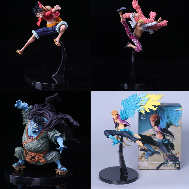 One Piece Pvc Action Figures Collection Model Monkey D Luffy Smoker Tashigi Doflamingo Marco Jinbe Anime Toys Decoration Wx293 Excellent In Quality