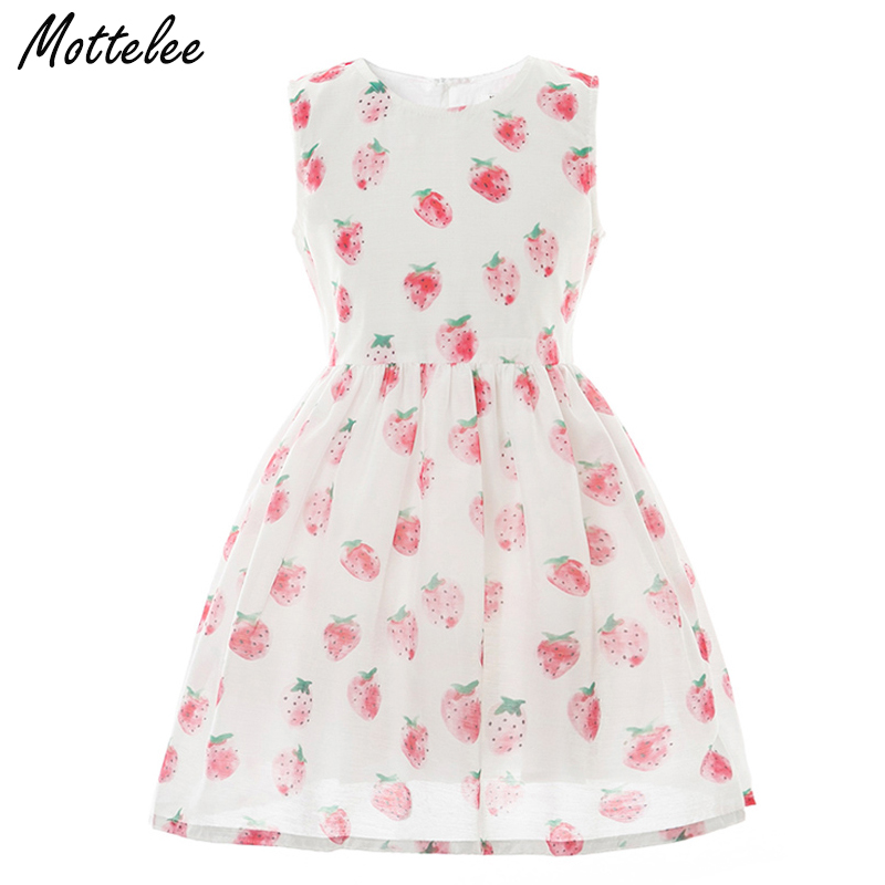 d38b37de7d US $7.06 38% OFF|Girls Dress Strawberry Kids Summer Dresses Children  Birthday Party Frocks Cotton Fruit Casual Baby Clothing for Girl -in  Dresses from ...