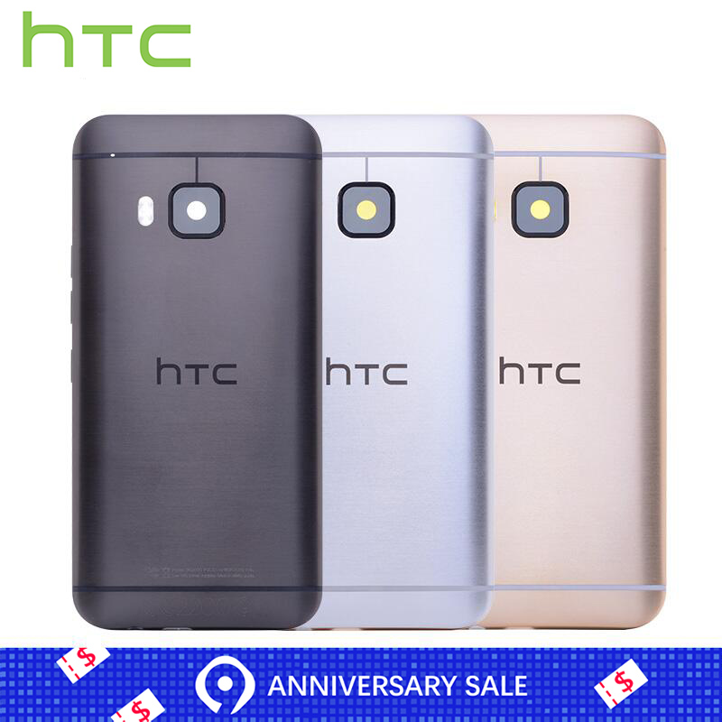 Original Rear Back Housing For HTC One M9 Back Cover Battery Door With Camera Lens Replacement Parts