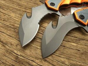 Image 4 - Lcm66 karambit faca dobrável, faca de raposa com garra csgo presente selva para acampamento ao ar livre, batalha autodefesa
