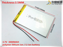 Size 3565100 3.7V 3000mah Lithium polymer Battery with Protection Board For 7 inch Tablet PC Ainol Aurora