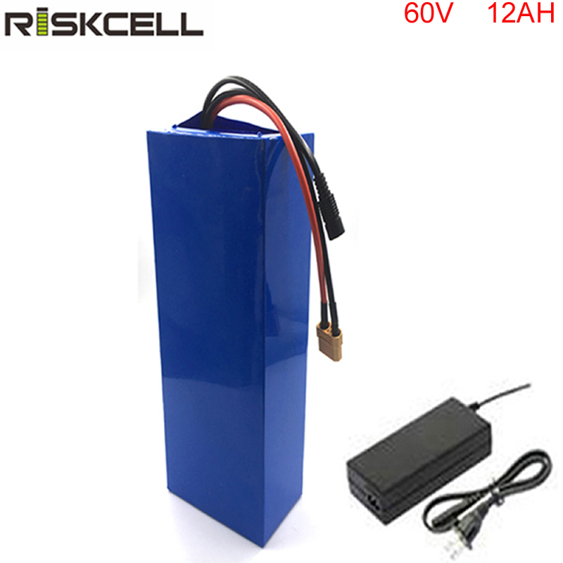 Wholesale price bicycle battery 60v 12ah li-ion e bike battery 60v for electric scooter 1800w motor battery free shipping 60v 4000w e bike electric bicycle battery 60v 60ah for panasonic cell ebike li ion battery pack with 5a charge
