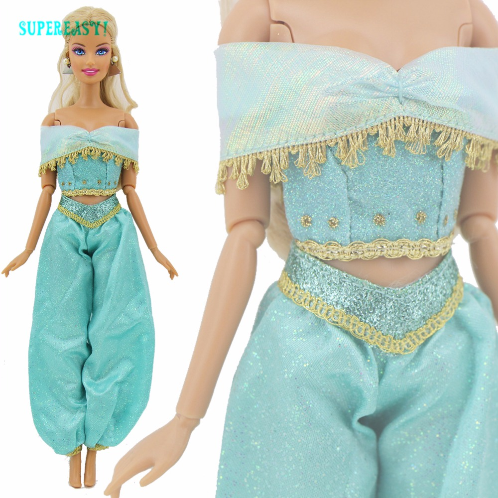 Fairy Tale Princess Outfit Limited Edition Aladdin Exotic Party Dancing Clothes For Barbie Doll Dollhouse Accessories Kids Gift hatber optimum barbie the pearl princess 20627
