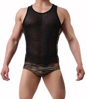 New Mens Ngụy Trang Quần Áo Xiêm Mens Sexy Đồ Lót Quần Lót Người Đàn Ông Tóm Tắt Lưới Khâu ngụy trang đồ lót