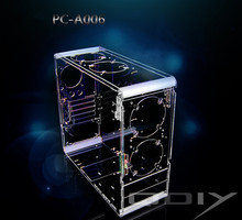 QDIY PC-A006 Vertical Transparent Chassis Acrylic Personalized Computer Case