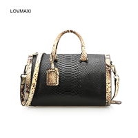 LOVMAXI 2018 women bags genuine leather Pillow handbags crocodile leather handbags women's Messenger bags hit color bag