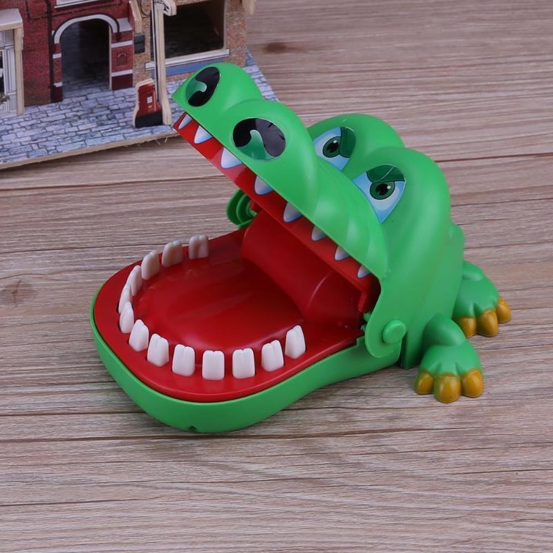 Large Size Crocodile Mouth Teeth Bite Finger Toy Crocodile Pulling Teeth Bar Funny Jokes Games Toys For Children Kids Gift