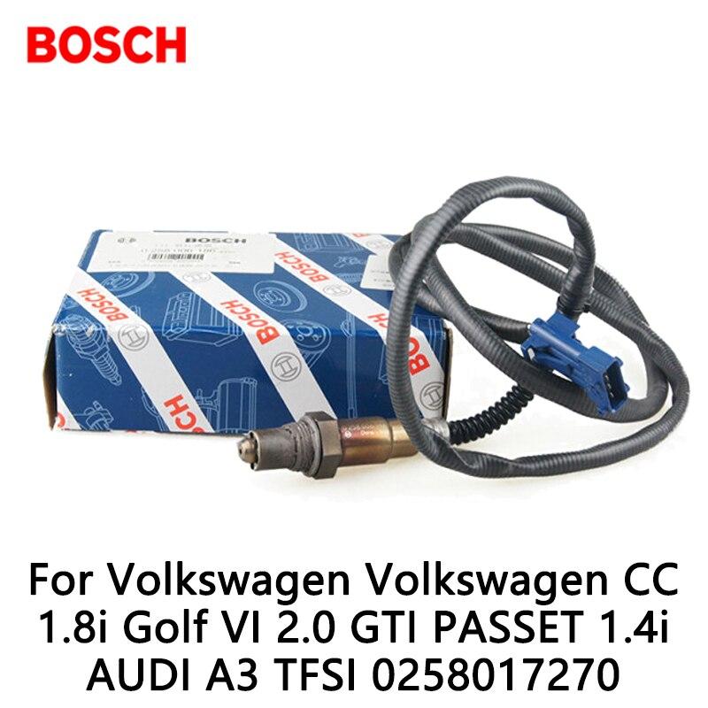 1pcs/lot Bosch Exhaust Gas Oxygen Sensor For Volkswagen Volkswagen CC 1.8i Golf VI 2.0 GTI PASSET 1.4i AUDI A3 TFSI 0258017270
