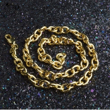 Hot gold chain Men Necklace Miami Cuban Link Chain Gold Bling Hip hop for Jewelry Necklaces A300
