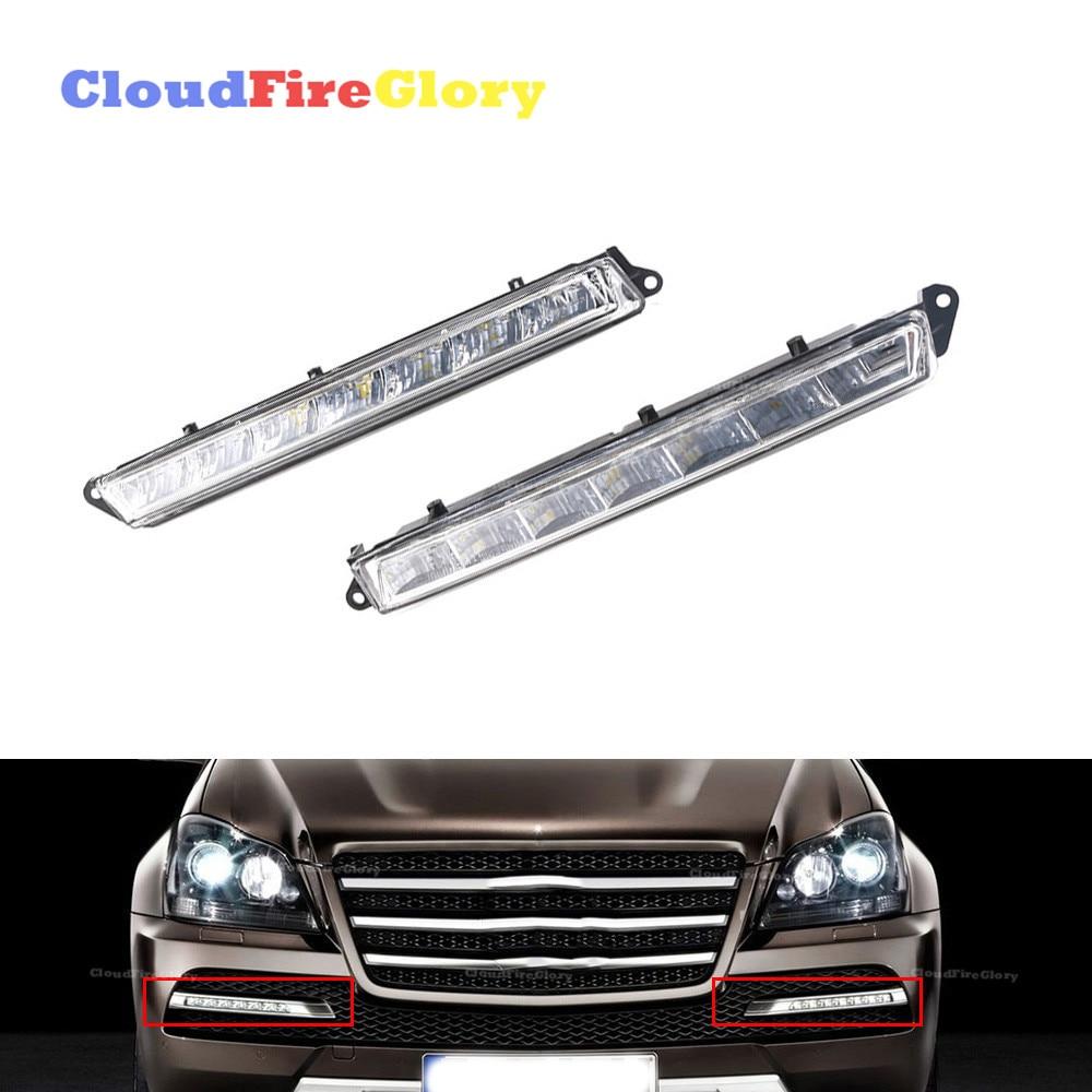 CloudFireGlory pour Mercedes X164 X166 GL320 GL350 ML63 AMG paire L R LED feux de jour antibrouillard 1649060351 1649060451