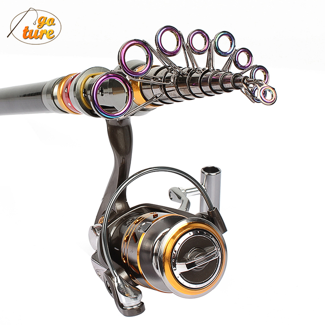 Goture Carbon Telescopic Fishing Rod 1.8/2.1/2.4/2.7/3.0/3.6Meter Spinning Sea Rod Pole With Spinning Reel 3000 13BB Rod Combo