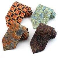 Luxury 100% Silk Ties For Men Classic Gentlemen Necktie Gravata Mens Tie For Business Wedding Party Shirt Dress Cravate