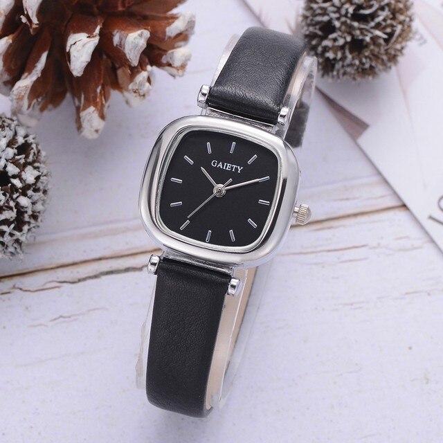 Женская мода кожаный ремешок аналоговые кварцевые наручные часы круглые часы женские часы relogio feminino montre femme