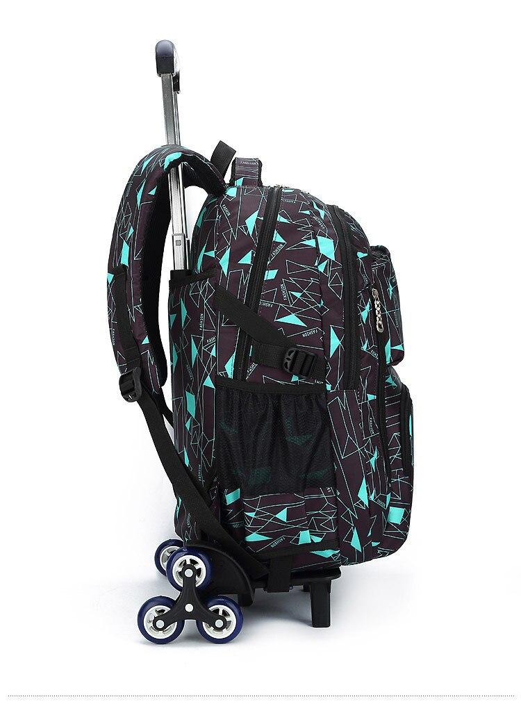 ที่ถอดออกได้เด็กกระเป๋านักเรียนบนล้อเด็กรถเข็นกระเป๋ากลิ้งกระเป๋าเป้สะพายหลังโรงเรียนสตรีประถมเด็กนักเรียนเป้-ใน กระเป๋านักเรียน จาก สัมภาระและกระเป๋า บน   2