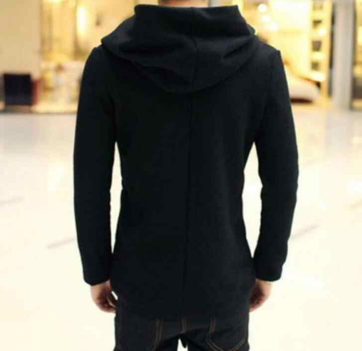 S-5XL 温泉男性の新ファッションロングセクション厚手のカーディガンヘアスタイリストシャーマンマントコート