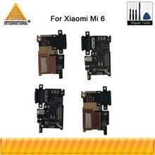 Ban Đầu Cho Xiaomi 6 Mi 6 Mi6 M6 Axisinternational Dock Sạc Cổng Kết Nối Dây Nguồn Flex Cable USB Sạc Nhanh Với Ngón Tay mở Khóa