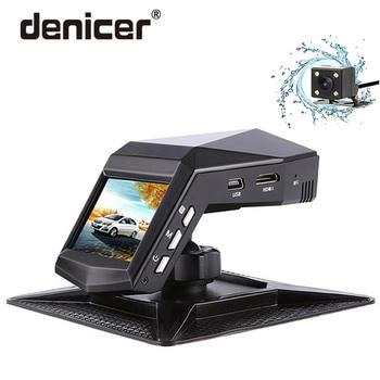 Denicer รถ Dvr กล้อง Dual เลนส์ Dash Cam Full HD 1920x1080 P กล้องวิดีโอ Registrator กับกระจกมองหลังกล้อง G - sensor