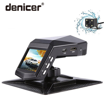 Denicer รถ Dvr กล้อง Dual เลนส์ Dash Cam Full HD 1920x1080P กล้องวิดีโอ Registrator กับกระจกมองหลังกล้อง G-sensor