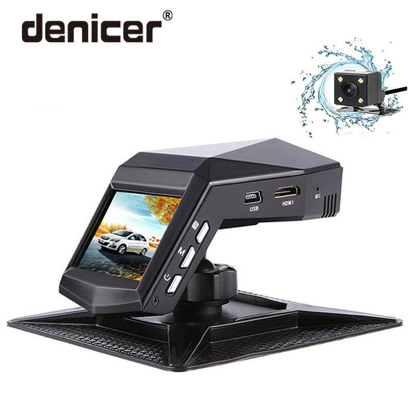 Denicer Câmera Dvr Carro Lente Dupla Traço Cam Full HD 1920x1080 p Gravador de Vídeo Camcorder Registrator Retrovisor Com g-sensor de câmeras