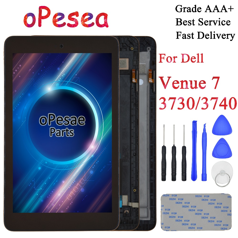OPesea For Dell Venue 7 3730 3740 LCD Display Panel Touch Screen Digitizer Assembly With Frame For Dell Venue 7 3740 LCD Display