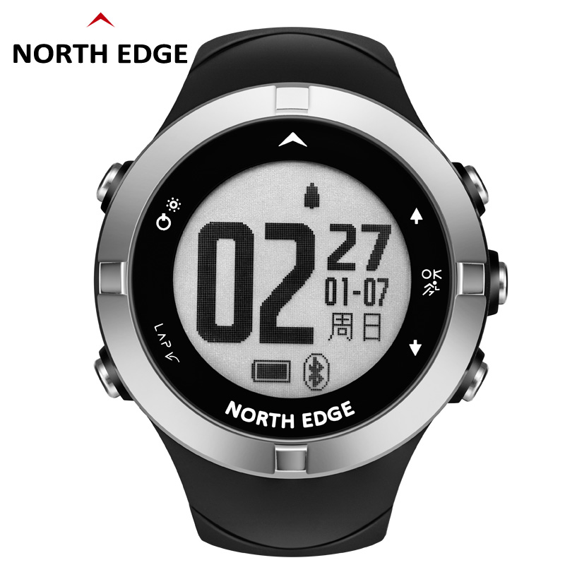 NORTH EDGE Mens Outdoor GPS Sport Smart Digital Watches 5ATM Waterproof Swimming Heart Rate Altimeter Compass Android IOS BandNORTH EDGE Mens Outdoor GPS Sport Smart Digital Watches 5ATM Waterproof Swimming Heart Rate Altimeter Compass Android IOS Band