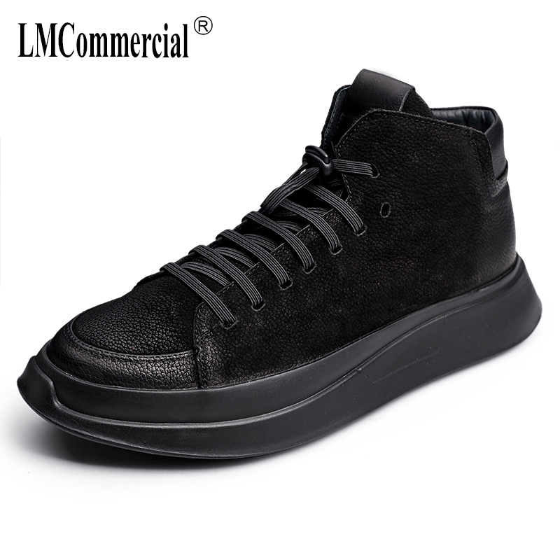 autumn winter British retro men's shoes all-match cowhide cashmere breathable sneaker boots men casual Genuine Leather shoes 2017 new autumn winter british retro zipper leather shoes breathable sneaker fashion boots men casual shoes handmade